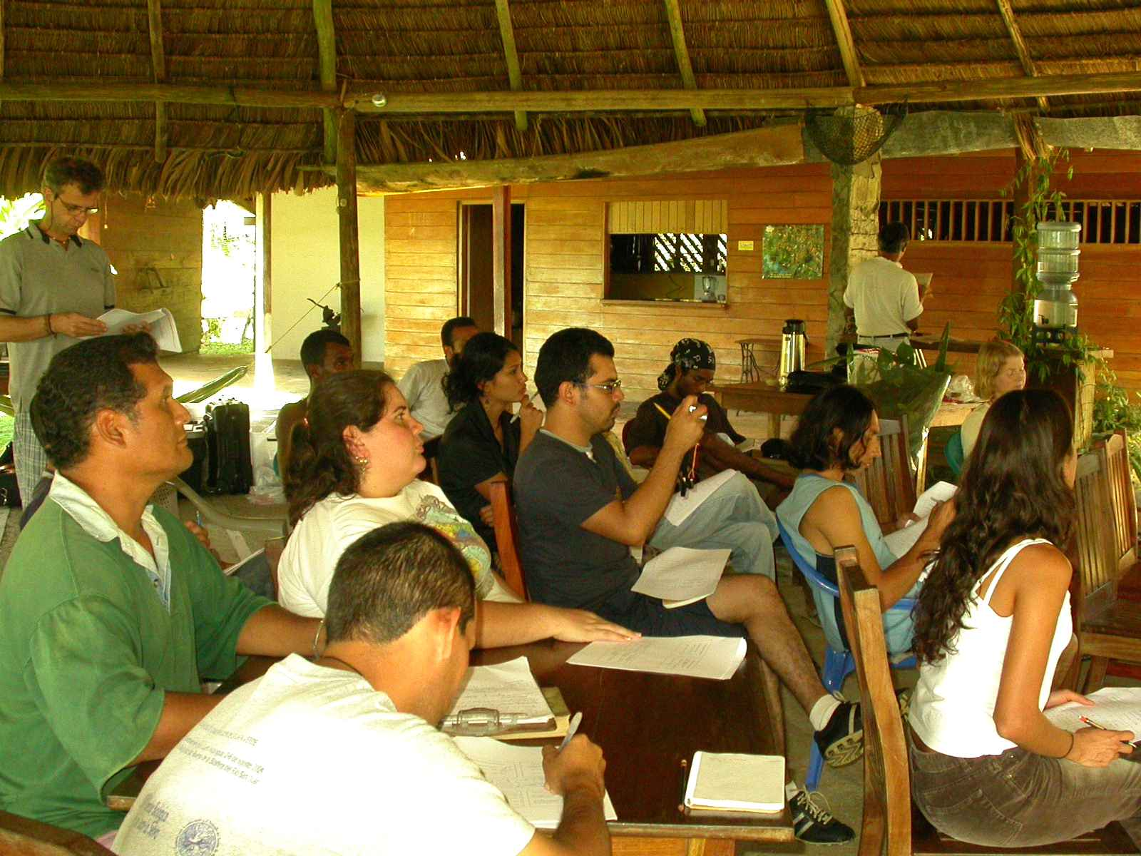 Lecture in the Refugio Bartola Field Station