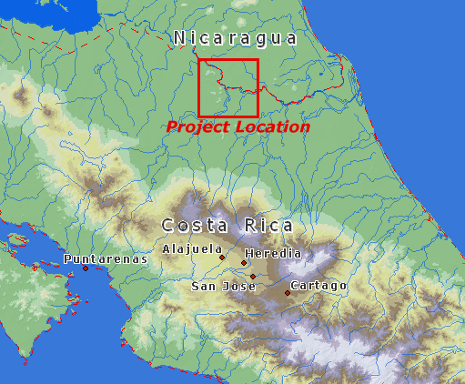 Detailed map of project location